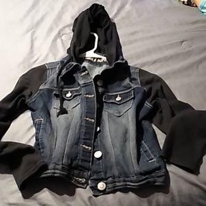 Jean sweater jacket